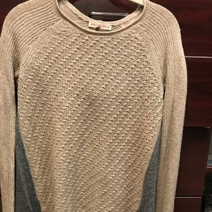 Rebecca taylor Gray & camel sweater